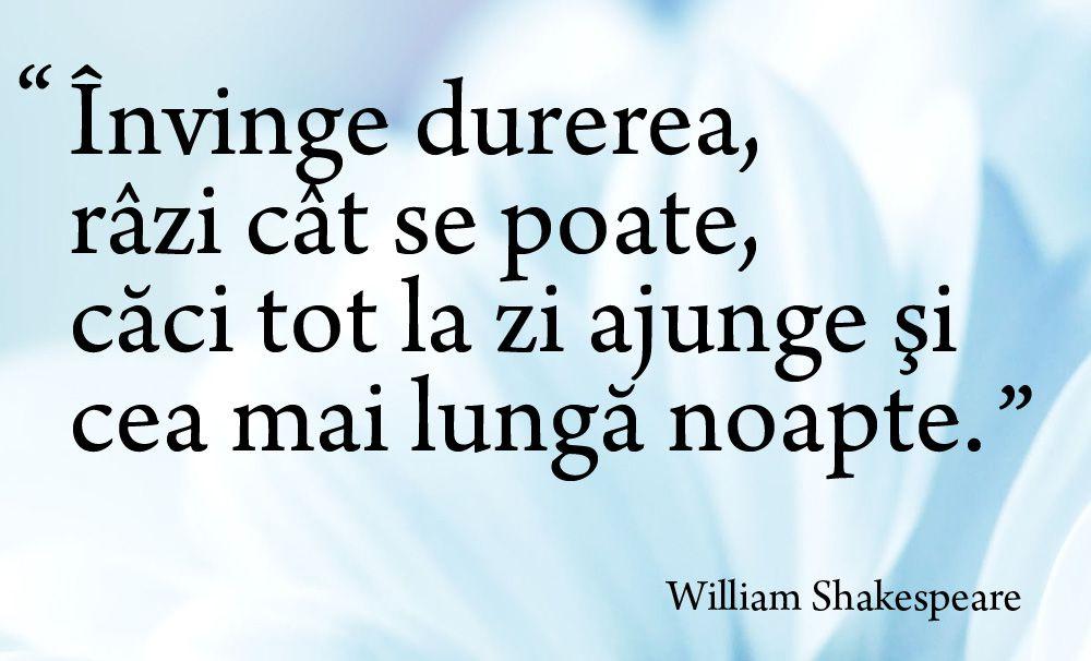 citate incurajare Invinge durerea  Citat William Shakespeare citate incurajare