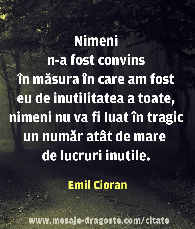 Emil Cioran citate triste