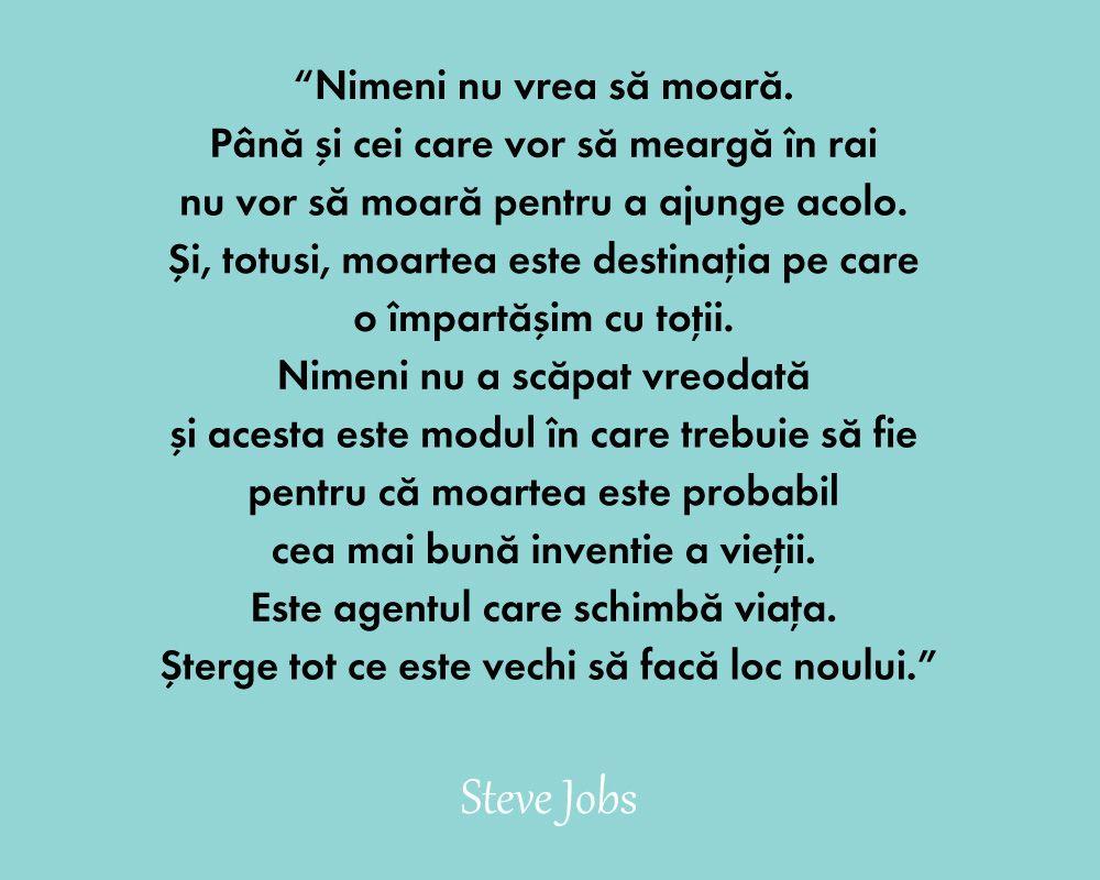 citate despre moarte Steve Jobs