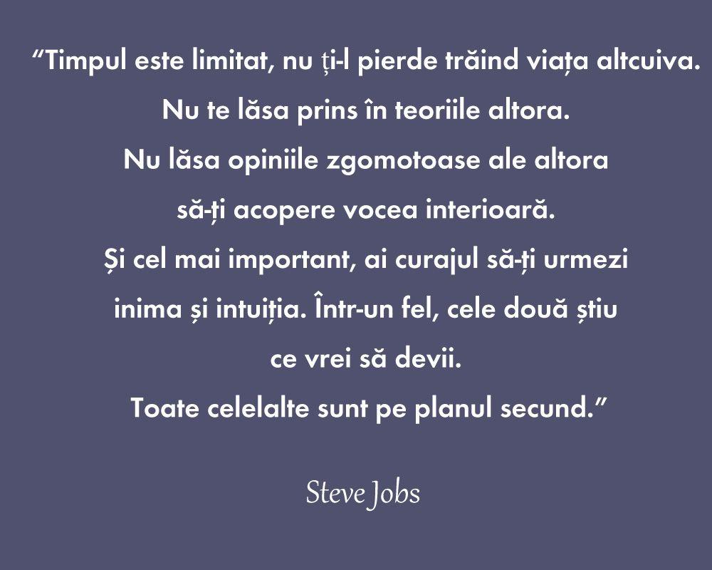 citate despre viata Steve Jobs