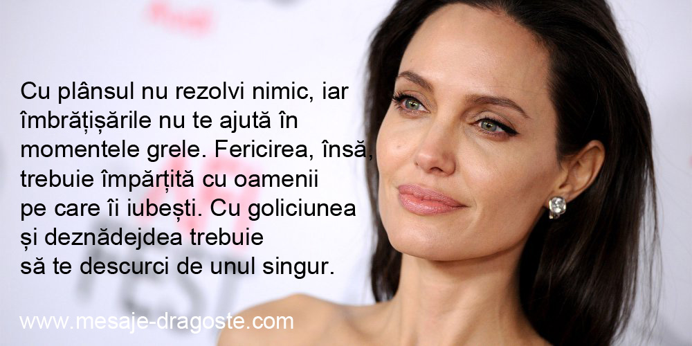sentimente Angelina Jolie