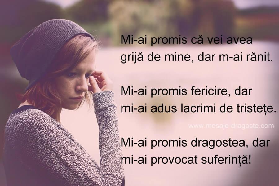 mesaje triste de suferinta mi-ai promis