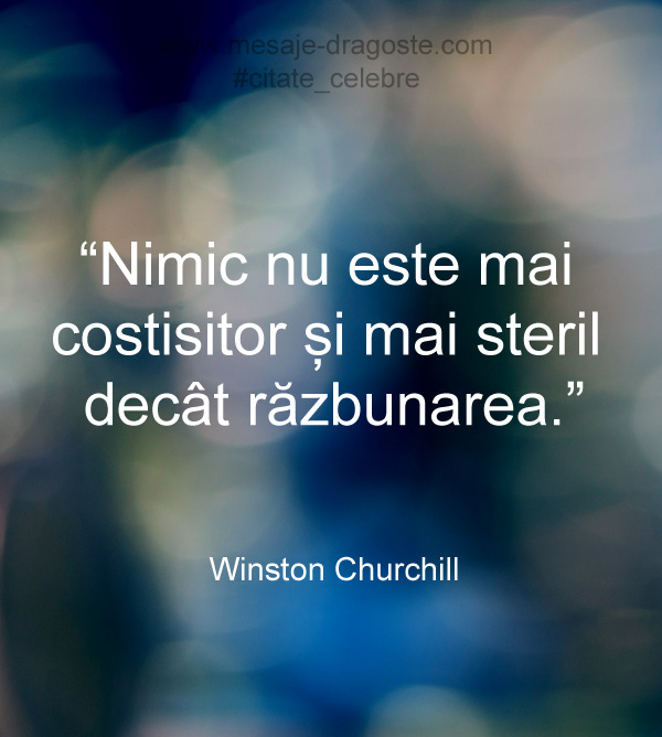 razbunare citat Winston Churchill
